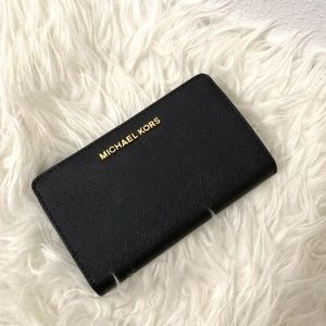 Michael Kors Wallet Jet Set Slim Bifold Black NWT